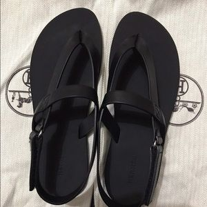 Hermès black sandals